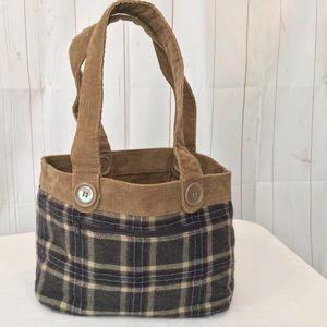 AERO Plaid Bucket Bag Corduroy Reversible